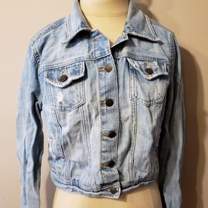 Decree womens size large denim jacket Jean